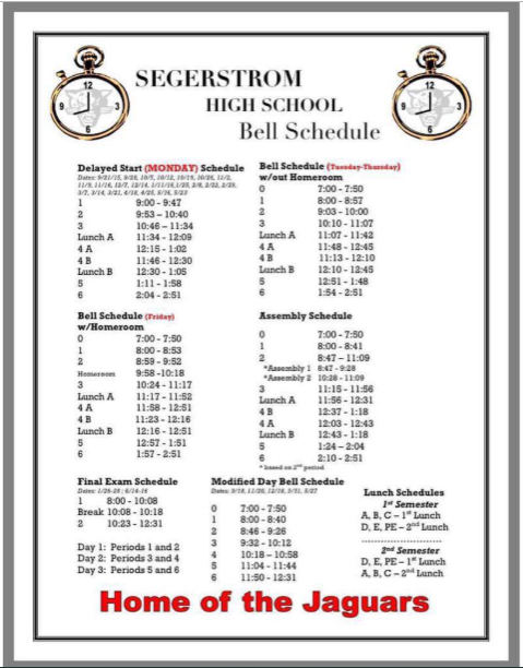 Bell Schedule 2019-2020: The new schedule includes changes that are greatly disliked by many.