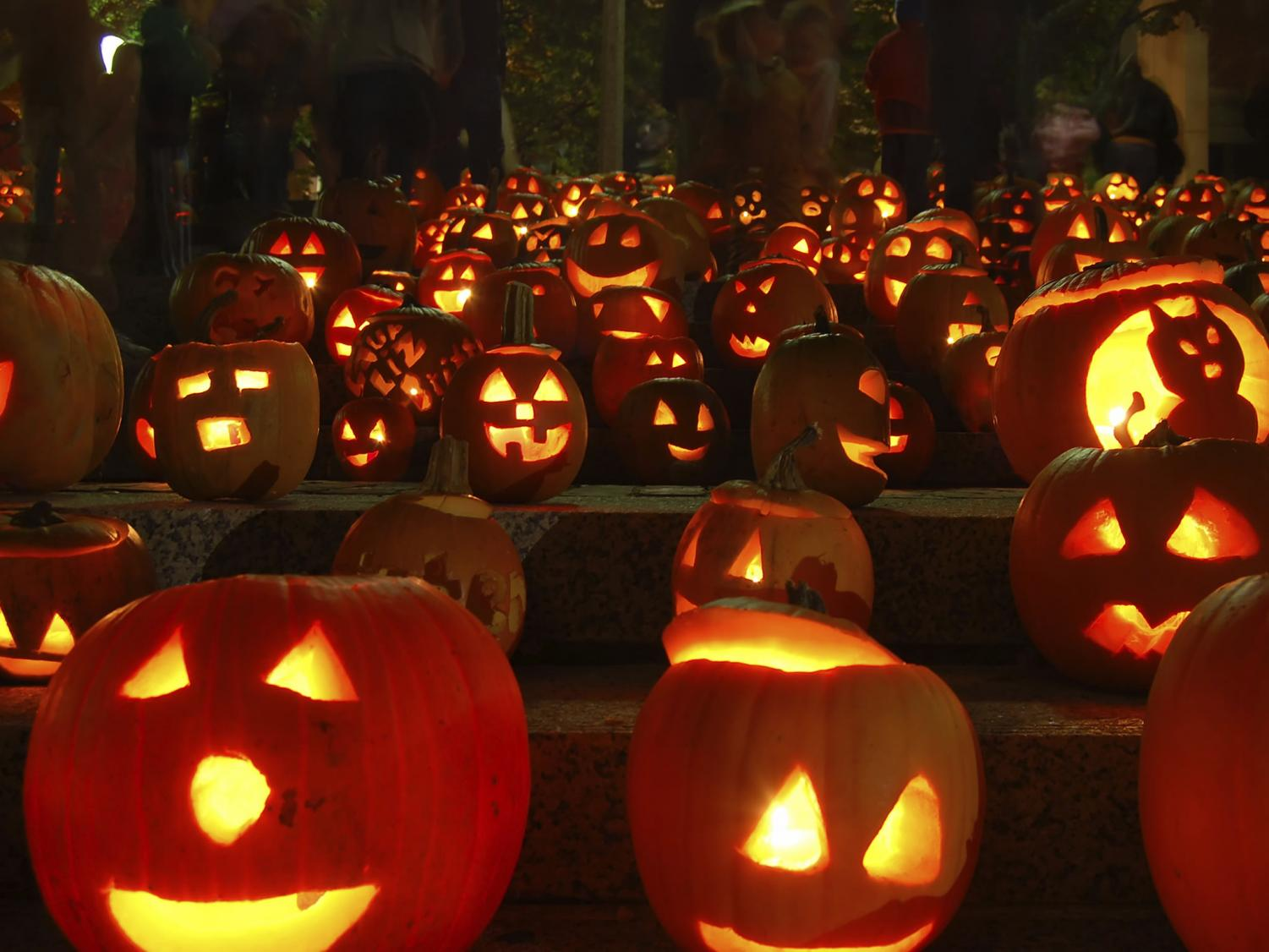 Pumpkins light up the darkness during the night and is considered a Halloween tradition.