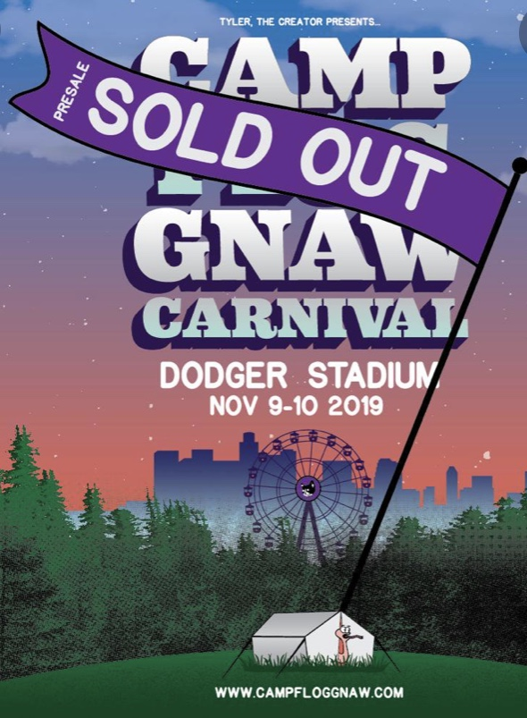 Camp Flog Gnaw 2019 flyer posted on Twitter.