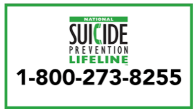 The National Suicide Prevention Lifeline is accessible to the public. Photo courtesy of: Kink.fm