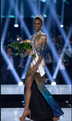Zozibini Tunzi, previously Miss South Africa, is crowned Miss Universe 2019 in Atlanta. Photo courtesy of: Alex Mertz of Wikimedia Commons