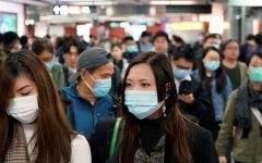 Several people wearing surgical masks after the outbreak of the Coronavirus. Photo courtesy of: Fox News