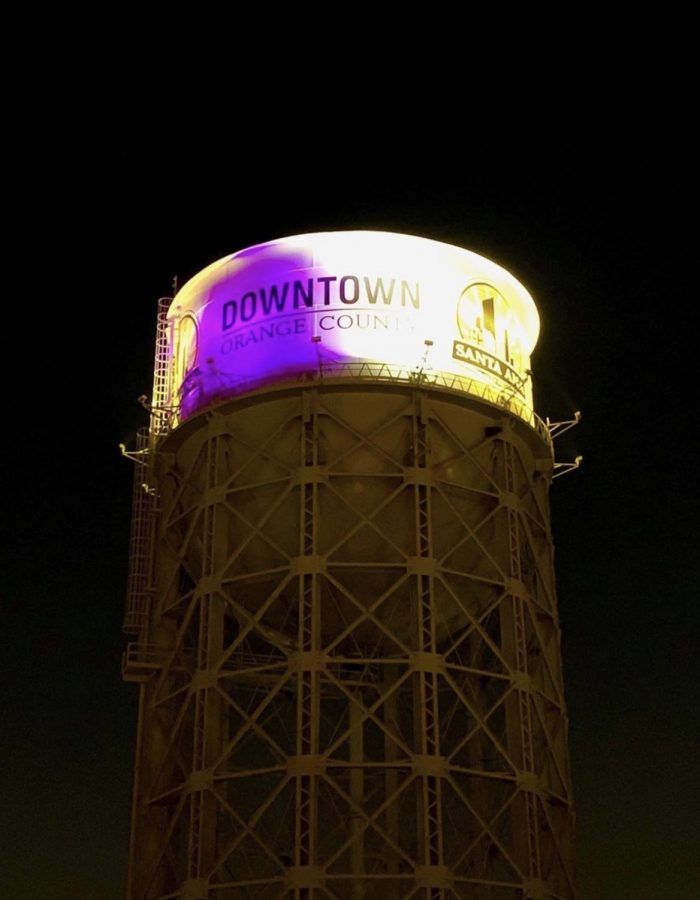 Downtown+Santa+Ana+Water+Tower+showing+love+to+Kobe+and+Gianna+Bryan.