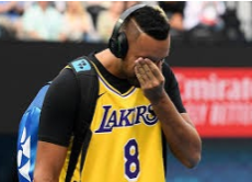 Nick Kyrigos as he stepped onto the courts at the 2020 Australian Open after Kobe Bryant's death.  Photo Courtesy of: Redifff.com and Quinn Rooney/ Getty Images