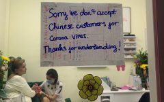 A nail shop in Vietnam who is refusing to serve Chinese customers due to the virus. Photo courtesy of: The New York Times