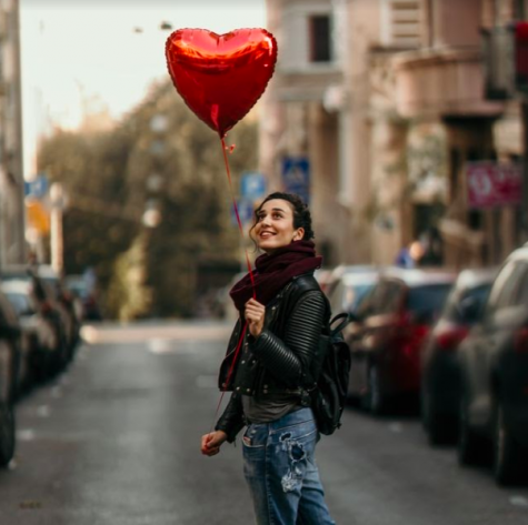 A single woman enjoying valentine's by herself. Photo courtesy of: Country Living Magazine