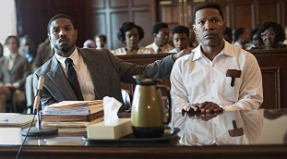 Bryan Stevenson (Michael B. Jordan), in court fighting for Walter McMillian's (Jamie Foxx) freedom. Photo courtesy of: IMDb