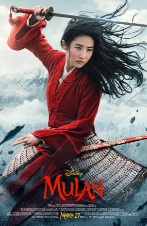 The movie poster for the film, Liu Yifei (Crystal Liu) is seen as Mulan. Photo courtesy of: Disney Movies