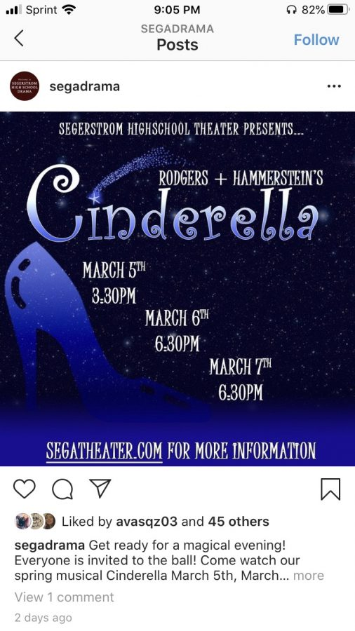 Information+regarding+showtimes+for+Cinderella.+Photo+courtesy+of%3A+segatheater.com
