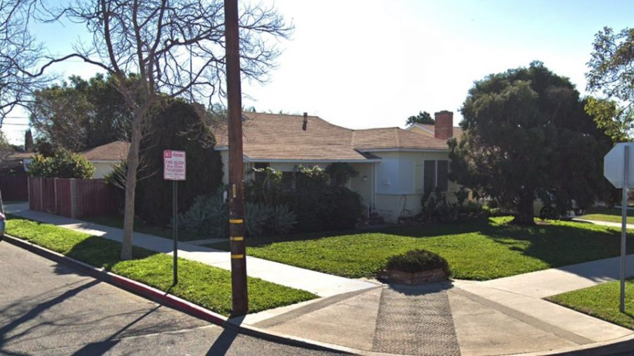 Street view of the woman's house. Photo Courtesy of: KTLA5