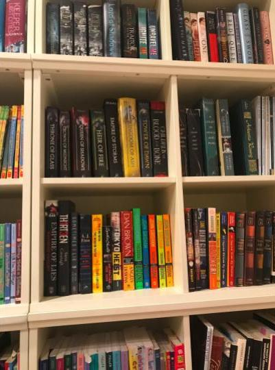 A collection of one teenager's favorite books.