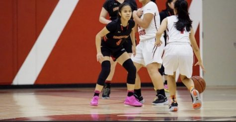 Emily Ngo (#4) in her black Segerstrom Gear guarding Westminster