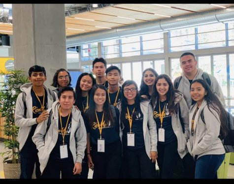 Daniela Salazar (third on the first row) on a trip with other Simon Scholar students.