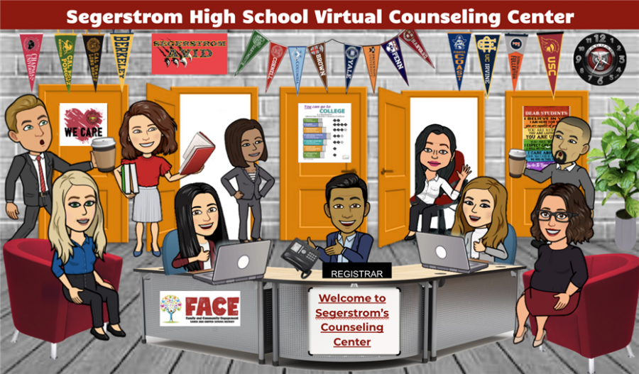 A picture of Segerstrom's Virtual Counseling Center. Photo courtesy of: Segerstrom High School