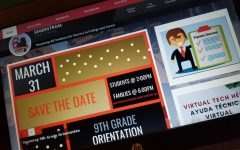 A photo of the front page on Segerstrom's website featuring the flyer for 9th grade orientation. Photo courtesy of: Bushra Syed.