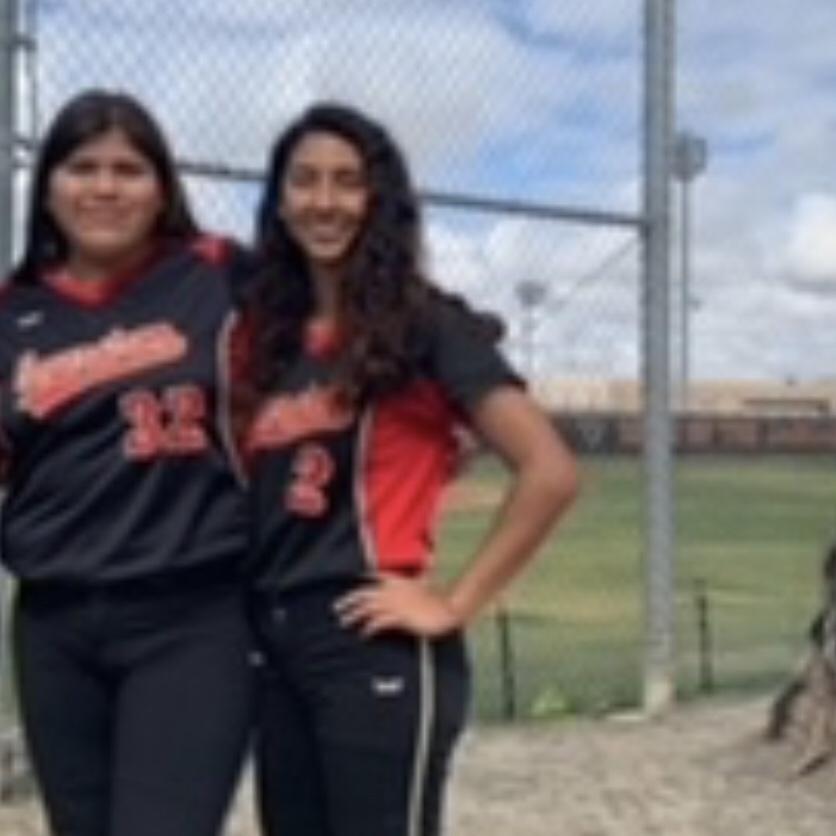Alexa Fernandez on the right, posing with her teammate. Photo Courtesy of: Alexa Fernandez