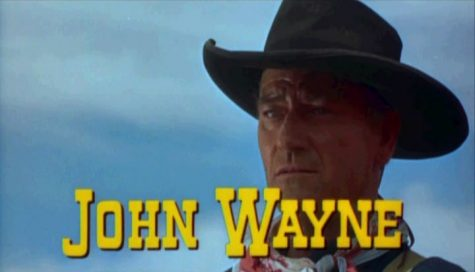 """A picture of John Wayne who starred in the film, the Searchers"". Photo courtesy of:  WikiMedia Commons."