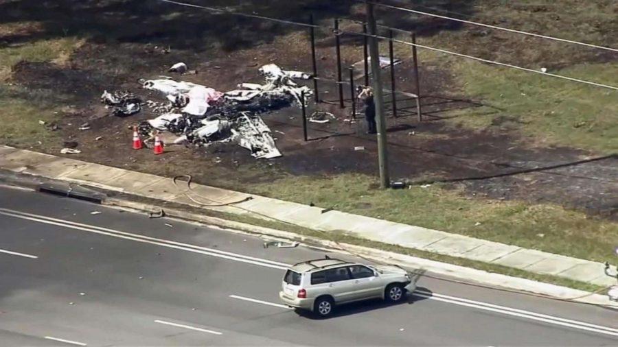 Aftermath of tragic plane crash. Photo Courtesy of: ABC NEWS