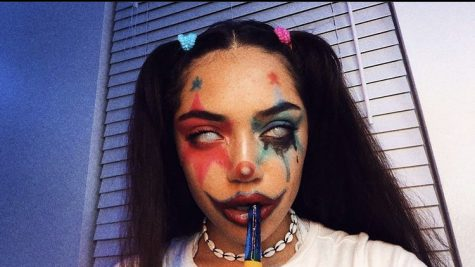 TikToker Avani Greggs viral clown makeup that started her career.  Photo courtesy of: Avani on Instagram.