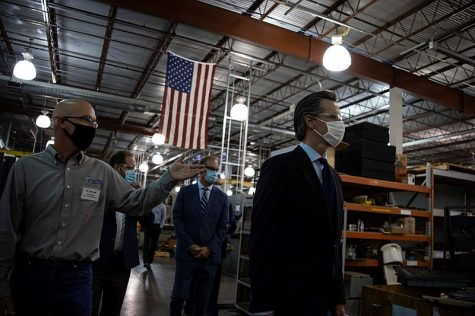 Photo Courtesy of: Office of the Governor of California; Wikimedia Commons Governor Gavin Newsom visits manufacturing company Tri Tool in Rancho Cordova, California.