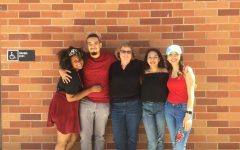 Mrs. Mitchell and some of her drama students. Photo courtesy of: Mrs. Mitchell.