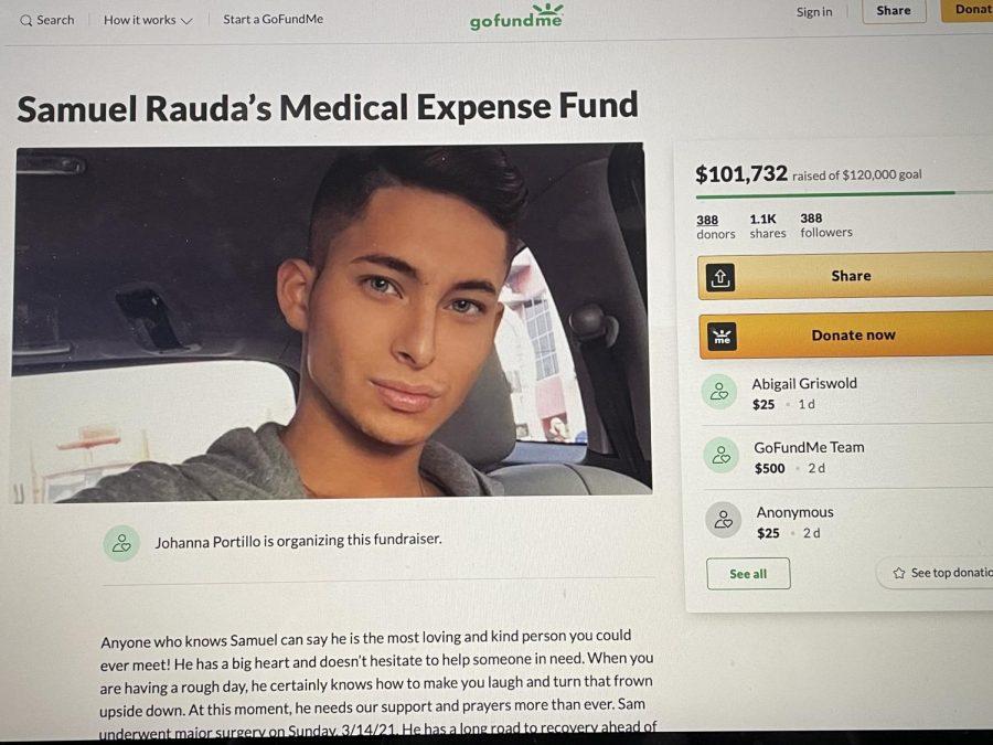 Samuel Raudas GoFundMe for his medical bills