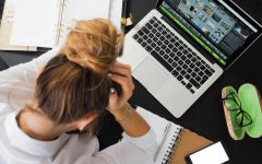 Having a job and attending virtual learning can be stressful (Photo Courtesy of: Pexels).