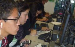 High school students from all over Santa Ana took SAT or PSAT tests for free on a district mandated day in 2017.  Photo Couresy of: SAUSD