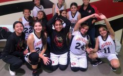 2019 Girls Frosh Basketball Team and their Coach Flores Photo Courtesy of: