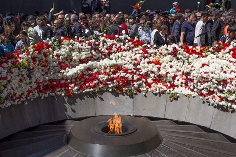 """""""Image of Armenian Genocide Memorial in Yerevan"""" Photo courtesy of: Wikipedia Commons"""